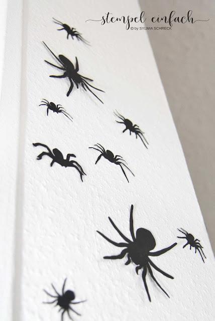 Spinnen-Halloween-Basteln
