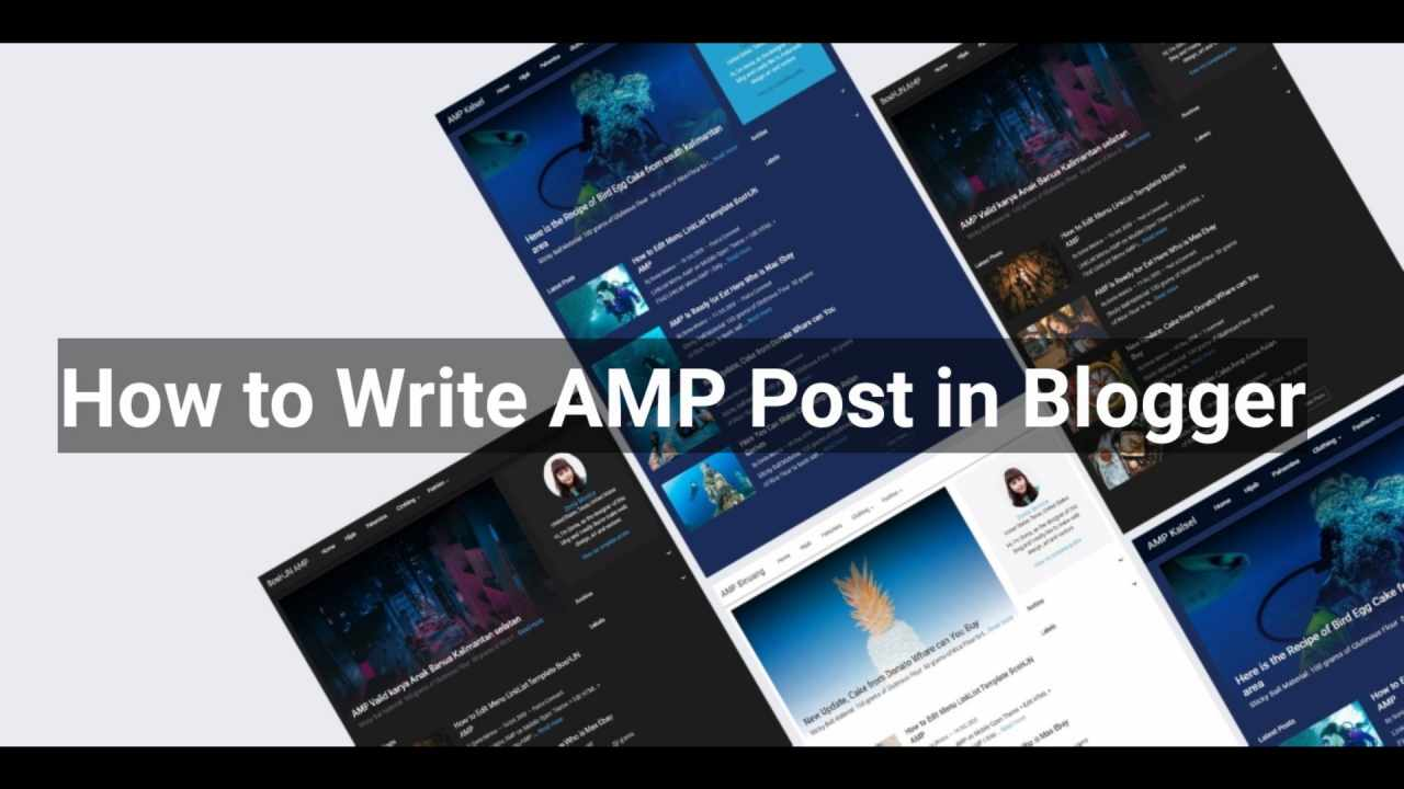 how to write amp post in blogger site