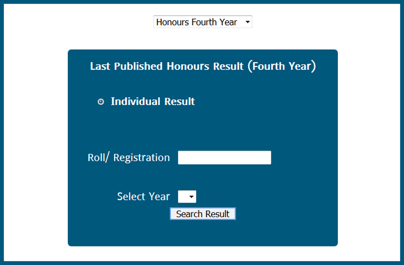 Honours 4th year result second method
