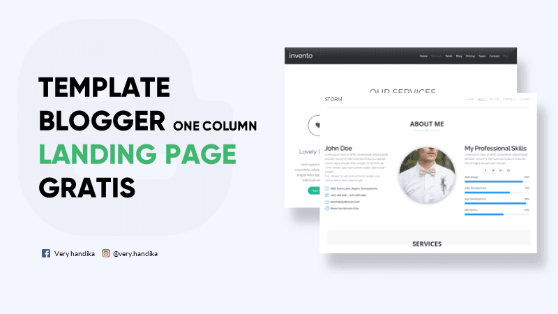 template blogger landing page