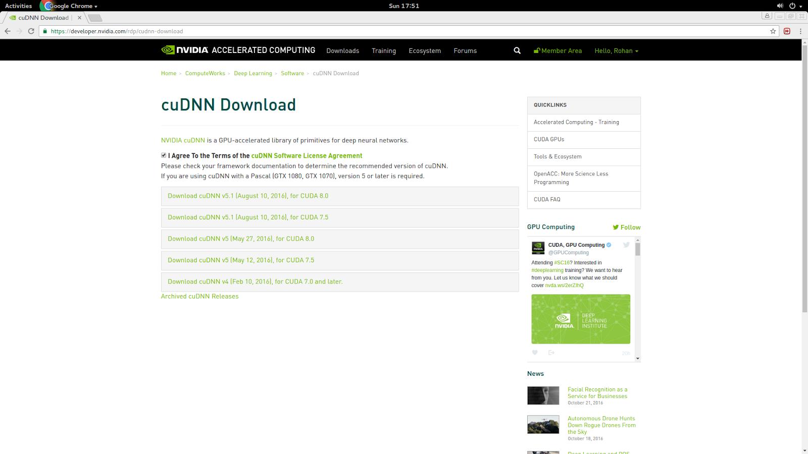 Rohan's Blog: Setting Up cuDNN library to CUDA in UBUNTU 14 04