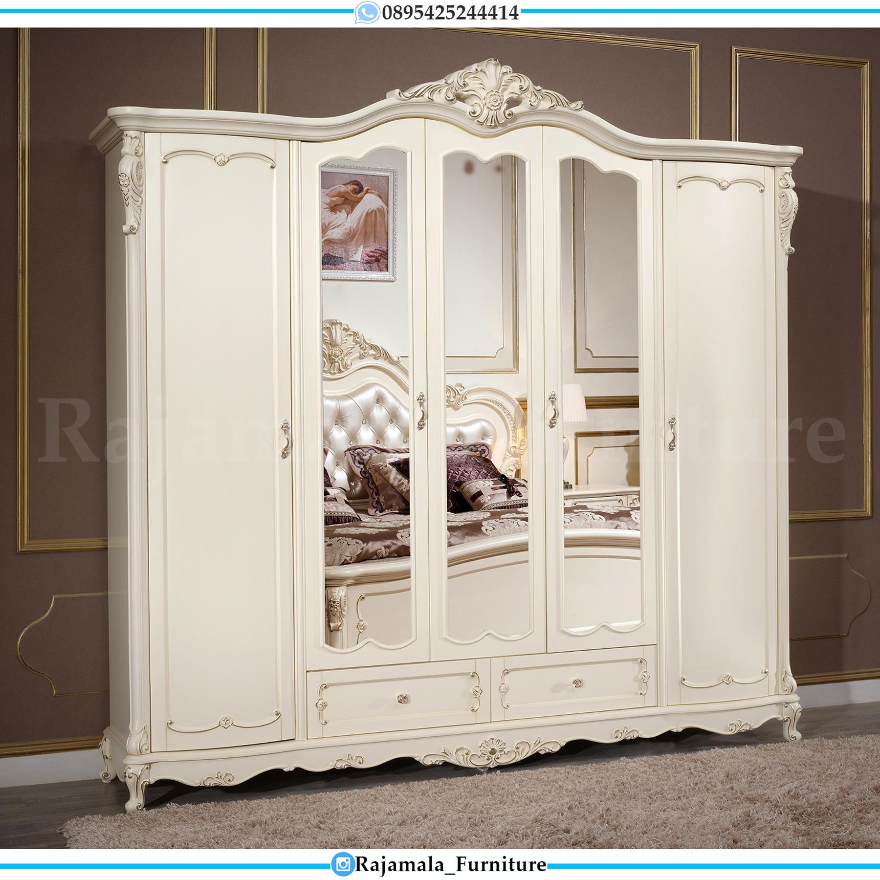 Lemari Pakaian Mewah Luxury Carving Furniture Jepara Terbaru RM-0169