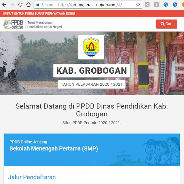 Hari Ini 52 SMP Negeri di Kabupaten Grobogan Melaksanakan PPDB Online