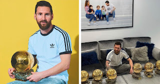 Messi thanks France Football for placing him on Dream XI, poses with 6 Ballon d'Ors