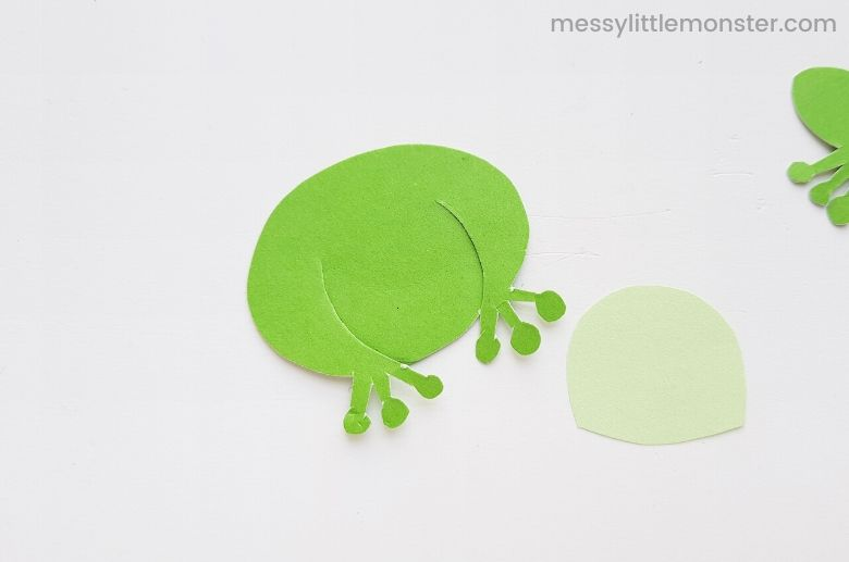 assemble frog puppet craft