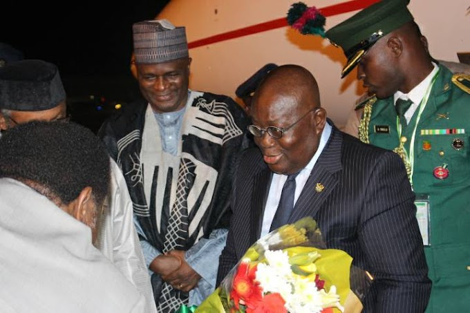 Photos: President Akufo Addo Arrives in Abuja for 52nd ECOWAS Summit
