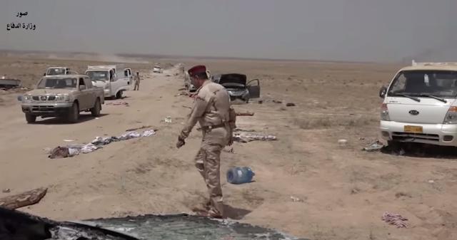 Ataques iraquianos dizimam um comboio ISIS  -MichellHilton.com
