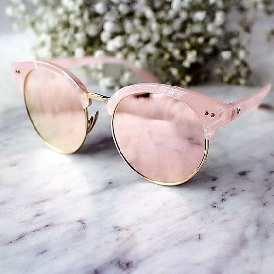 c08b6758e7b Adopt these trending colours in sunglasses and cool this summer. Go for rose  pink mirrored sunnies or sunglasses with powder blue frames.