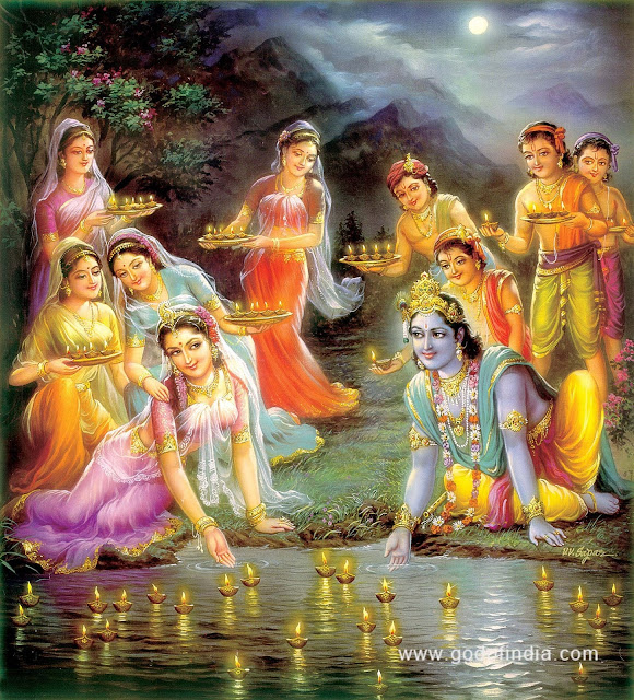 Krishna and his family