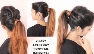 2 Easy Everyday Ponytail Hairstyle / Fancy Ponytail Hairtsyle