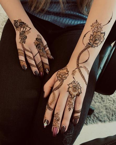 College Mehndi Designs for Girls