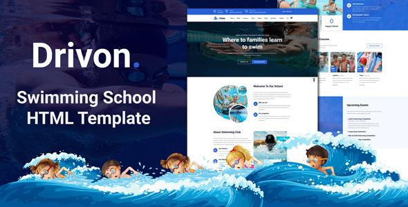 Swimming School HTML Template