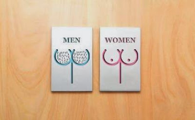 Funny Toilet Man And Woman sign