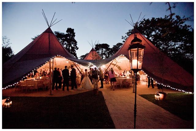 Real Tipi Weddings: Real Feather-Themed Teepee Wedding: Zegnia & Matthew