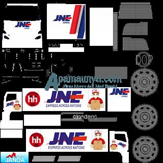 Download Livery Truck Hino NG 500 Box jne