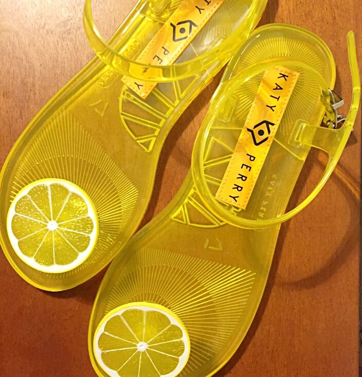 Katy Perry lemon jelly sandals