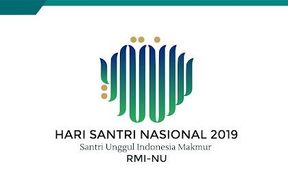 Download Logo Hari Santri Nasional (HSN 2019) CDR Resmi - Vector - PNG - Transparan