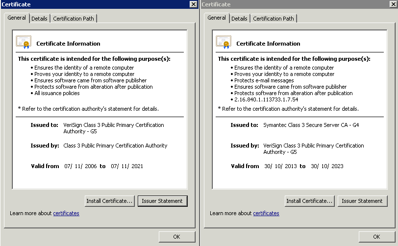 Troubleshooting Symantec Verisign Ssl Certificates Issue On Pki Vpn