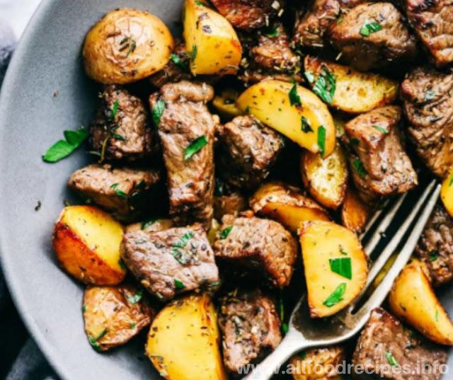 Garlic Butter Herb Steak & Potatoes