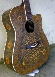 Batik Unik Gitar