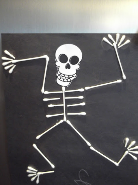q tip skeleton template - sunshine on the inside happy halloween