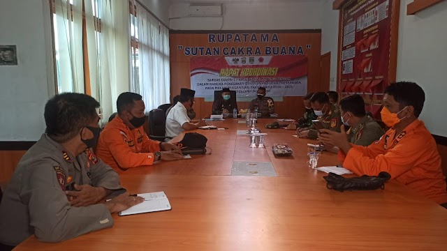 Polres Lampung Tengah Melaksanakan Rapat Koordinasi Persiapan Malam Pergantian Tahun Baru 2021