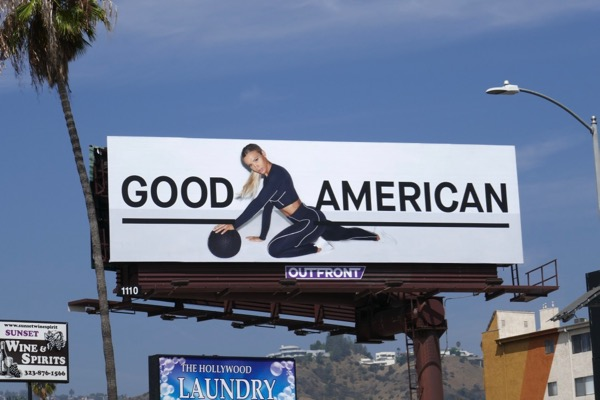 Good American activewear 2018 billboard