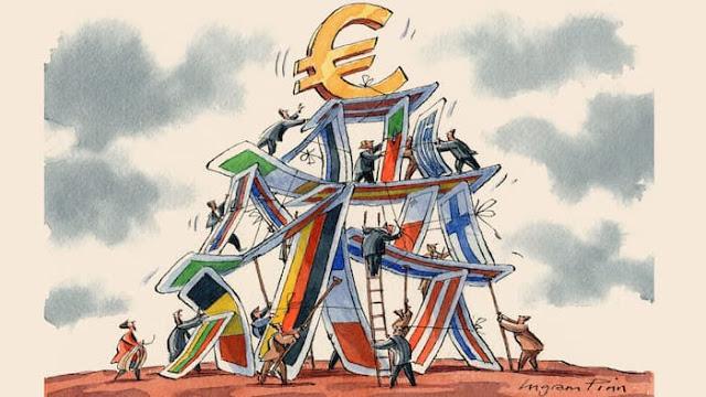 """""""Πύργος από τραπουλόχαρτα που καταρρέει"""" το ευρώ"""