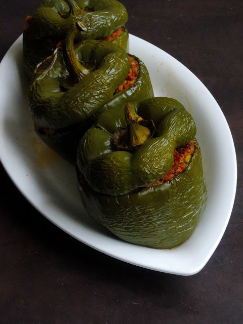 Poivron Farci, Pondicherry Style Stuffed Bellpeppers
