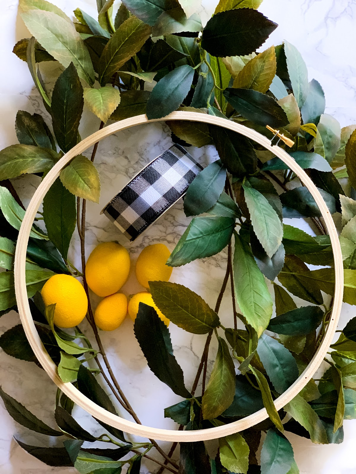 Summer Lemon Hoop Wreath