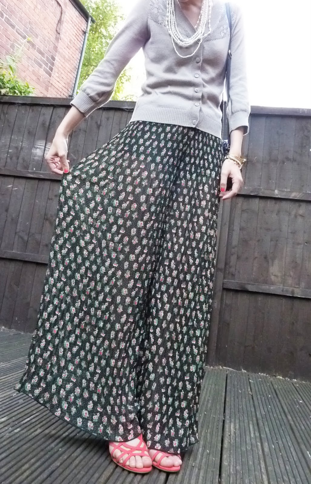 Little Rachael Vintage P Is For Pleated Palazzo Pants