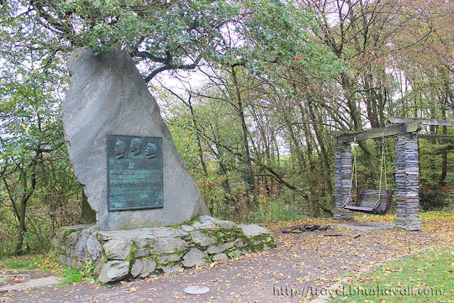 Heinrich Heine memorial on Loreley Observation deck