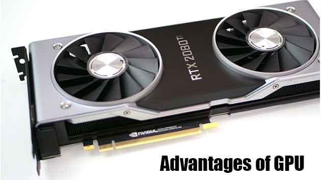 Advantages of GPU