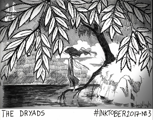 dryads-inktober-ink-lucyowlart-luciaalocchiart