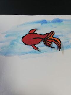 黒紙×色和紙の切り絵(淡い背景)