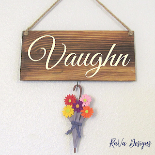 rava designs spring decor seasonal last name sign april