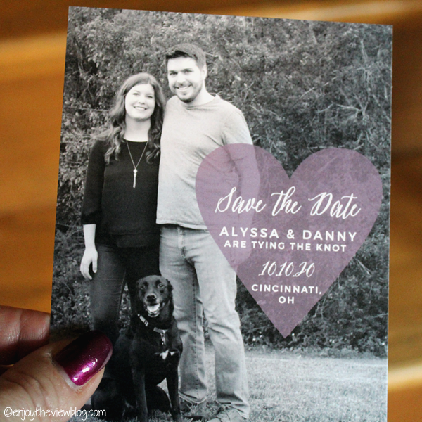Heart Beat Save-the-Date card from Basic Invite