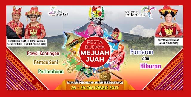 Ayo Ramaikan, Pesta Budaya Mejuah-Juah Digelar 26-29 Oktober 2017
