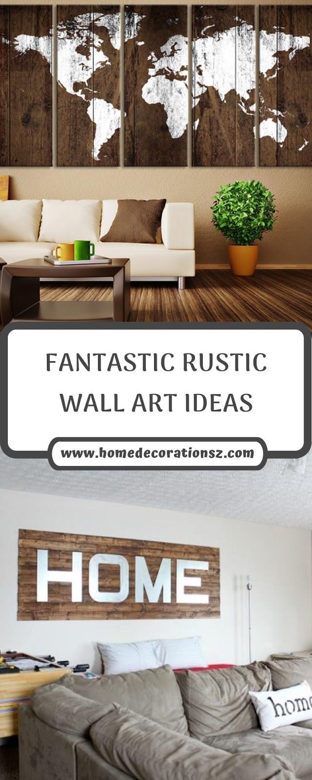 FANTASTIC RUSTIC WALL ART IDEAS