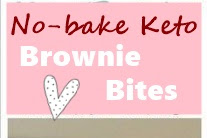 No-bake Keto Brownie Bites