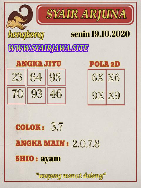 Kode syair Hongkong senin 19 oktober 2020 257