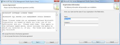 Instal Microsoft SQL Server 2005 Express di Windows 7 Part 2