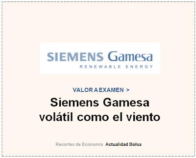 SIEMENS GAMESA, VALOR A EXAMEN en Cinco Días.  16 de Noviembre 2019.
