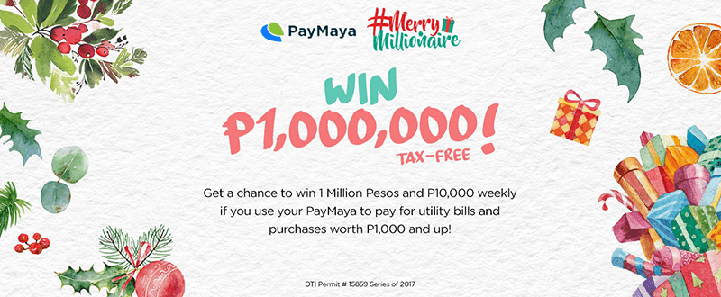 PayMaya's Merry Millionaire Promo is back!