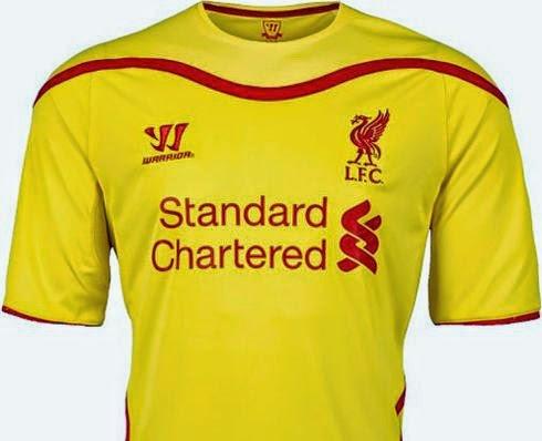Liverpool divulga segunda camisa para a temporada 2014 15 ~ FutGestão b1d4930f2578c