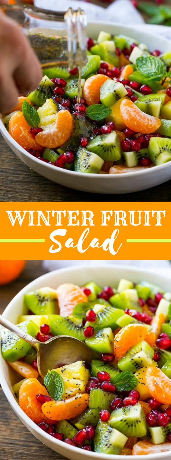 WINTER FRUIT SALAD #vegetarian #holidaymeal