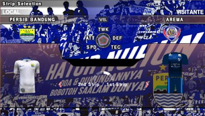 Link Download Pes Army 2017 Mod Persib Gojek Traveloka Liga 1 Indonesia Terbaru For Android PPSSPP PSP ISO: