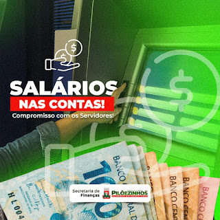 Prefeitura de Pilõezinhos PB, paga  salários de Janeiro neste sábado