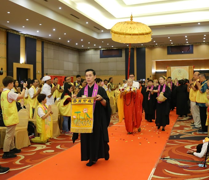 "Yayasan Gondesan Buddhist Indonesia mengadakan kegiatan Dhamma Talk oleh The Most Ven, Master Kuan Ru,""Kebajikan dan Manfaat Pelafalan Mantra Maha Karuna Dharani atau Ta Pei Cou,"""