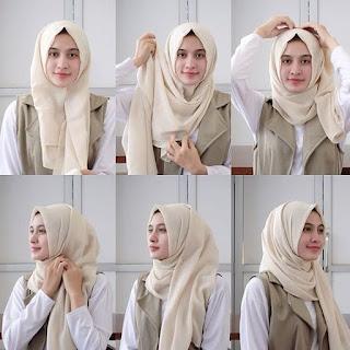 15+ Model Hijab Terbaru Pashmina Segi Empat Pesta 2017
